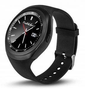 Metalowy smartwatch sportowy
